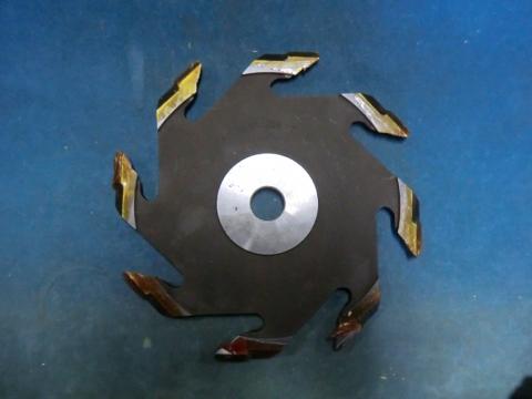 ホゾ取りカッター 兼房 エテ面 左45° 4.5mm付き 未使用品