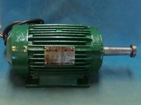 丸鋸モーター 明電舎 平安ホゾ取り盤カンナ軸下側用 整備品