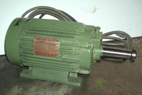 丸鋸モーター 明電舎 平安ホゾ取り盤上側用 整備品