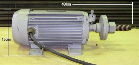 丸鋸モーター 協和機工 右ネジ 1.5Kw 2P 整備品