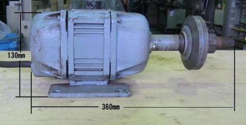 丸鋸モーター 新ダイワ工業 右ネジ 0.4Kw 2P 整備品