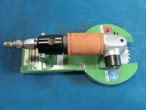 エアー式ツノ切機 玉置機械 120mm用 オーバーホール済