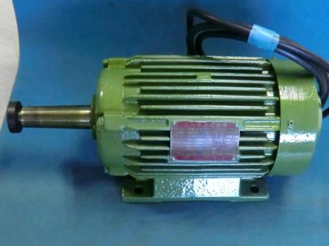 丸鋸モーター 明電舎 平安ホゾ取り盤カンナ軸上側用 整備品